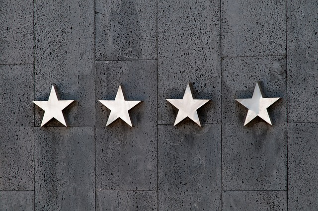Four stars symbolizing online reviews